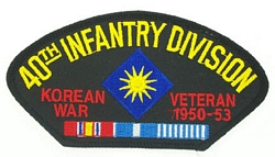 40th Infantry Division Korean War Veteran Patches